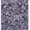 Square Beads 3.4x3.4mm Square Hole Blue Luster Matte